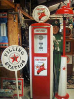 Texaco Station and Firechief Gas Pump
