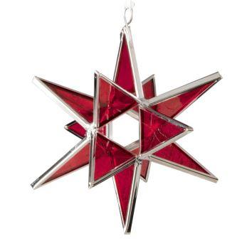 Stained Glass Moravian Star - Happiness, Life, & Love