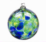 Oceania Calico Blown Glass Friendship Ball