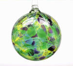 Spring Calico Blown Glass Friendship Ball