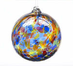 Sunny Sky Calico Blown Glass Friendship Ball
