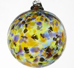 Mexicana Calico Blown Glass Friendship Ball