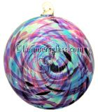 Violet /Blue Blown Glass Spiral Disc
