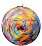 Blown Glass Spiral Disc