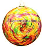 Candy Blown Glass Spiral Disc
