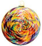 Jewel Blown Glass Spiral Disc
