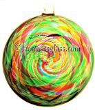 Spring Blown Glass Spiral Disc