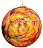 Sunshine Multi Blown Glass Spiral Disc