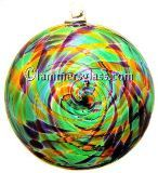 Tiffany Blown Glass Spiral Disc