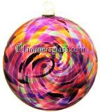 Violet Multi Blown Glass Spiral Disc
