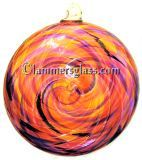 Violet/Pink Sunshine Blown Glass Spiral Disc