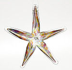 Festive Multi Blown Glass Starfish
