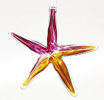 Gold/Pink Blown Glass Starfish