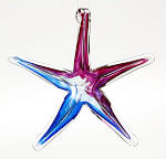Purple/Blue Blown Glass Starfish