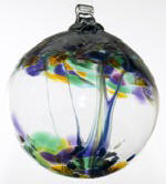 Blown Glass Tree of Life Ball -Blessings