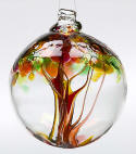 Autumn Blown Glass  Tree of Life Ball