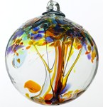 Blown Glass Tree of Life Ball - Happiness