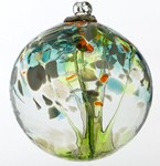 Blown Glass Tree of Life Ball - Rebirth