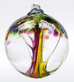 Blown Glass Tree of Life Ball - Summer