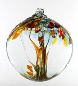 Blown Glass Tree of Life Ball - Thanksgiving