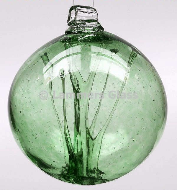 Green Blown Glass Witch Ball