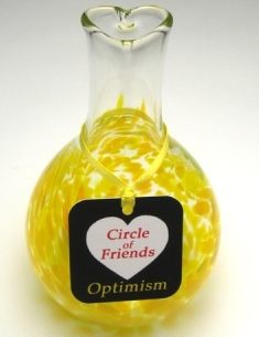 Blown Glass Friendship Vase Optimism