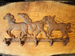 Cast Iron Horses Five Hook