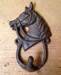 Cast Iron Horse Head Hook - Single