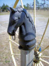 Cast Iron Horse Hitchin Post