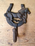 Cast Iron Running Horse Hook - Single