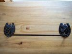 Cast Iron Horseshoe Towel Bar