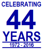 Celebrating 44 Years in Business! Thank You!