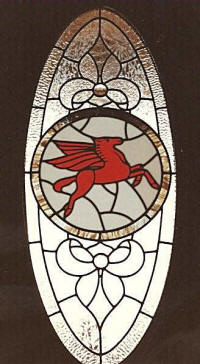 Mobil Pegasus Stained glass by Lammers