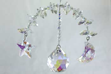 Moonbow or Moonbeam Hanging Crystal Prism