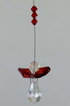 Red Hanging Crystal Prism Angel