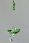 Green Hanging Crystal Prism Angel