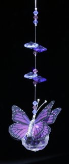 Purple Butterfly Hanging Prism