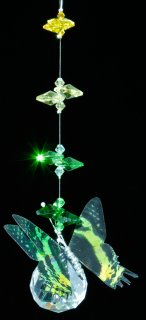 Green Butterfly Hanging Prism