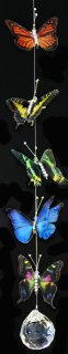 5 - Butterfly Assorted colors Hanging Prism