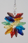 Rainbow Hanging Crystal Prism Cluster Chakra
