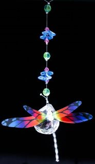 Rainbow Dragonfly Hanging Prism