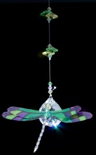 Green Dragonfly Hanging Prism