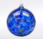 Winter Solstice Calico Blown Glass Friendship Ball