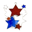 Stars & Fireworks Stained Glass Nightlight Suncatcher