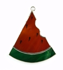 Watermelon Slice Stained Glass Nightlight Suncatcher