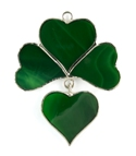 Shamrock w/ Dangle Stained Glass Nightligh Suncatcher