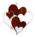 Hearts Stained Glass Nightlight Suncatcher