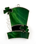 Leprechaun Hat Stained Glass Nightlight Suncatcher