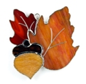 Oak Leaves Stained Glass Nightlight or Suncatcher