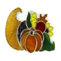Cornucopia Stained Glass Nightlight or Suncatcher